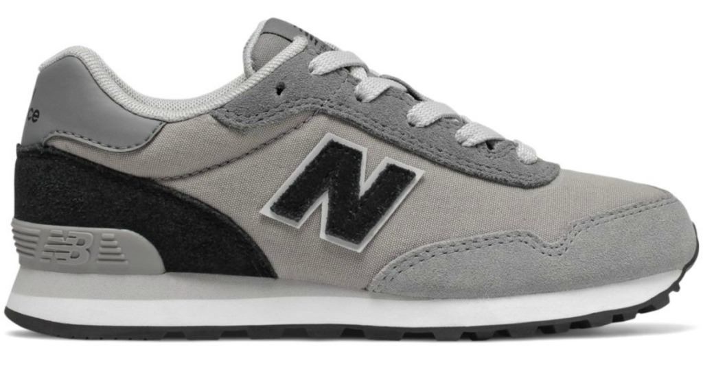 boys gray and black new balance sneakers