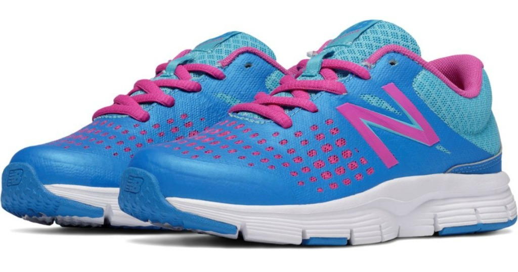 blue and pink new balance girls shoes