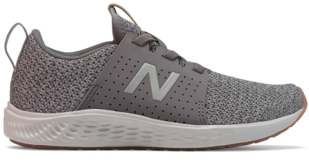 gray and white New Balance girls sneakers