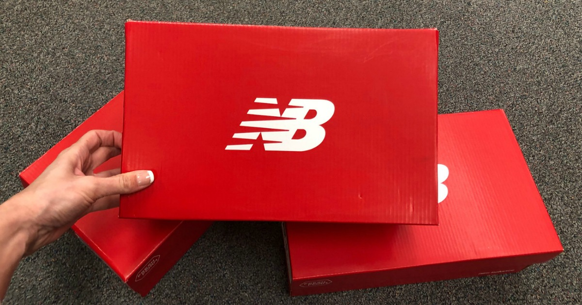 Stack of New Balance Shoe Boxes