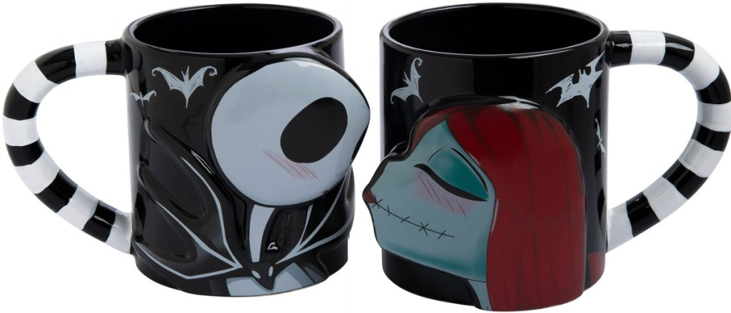 Nightmare Before Christmas Jack and Sally Matching Mugs