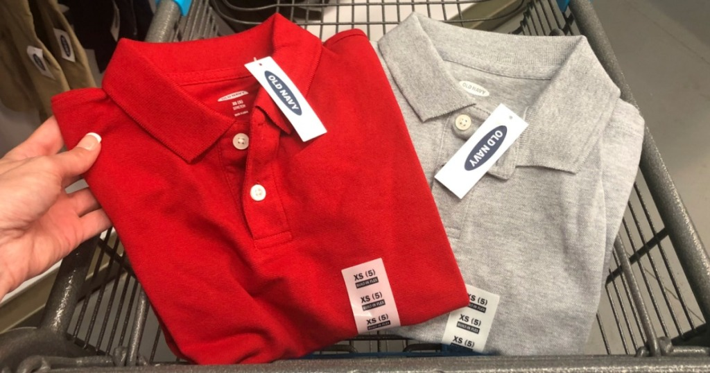 Old Navy Polo Uniform shirts in cart