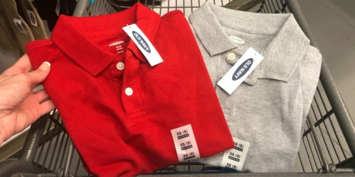 Buy 1 Old Navy Uniform Polo, Pants or Shorts, Get 1 FREE | In-Store & Online