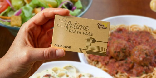 Olive Garden Lifetime Pasta Pass Available NOW
