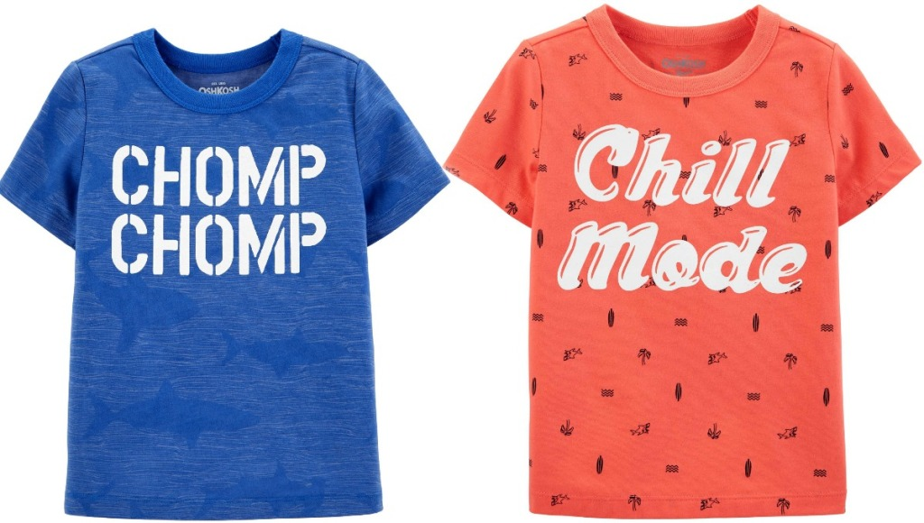 Oshkosh B'gosh boys graphic tees in blue and red