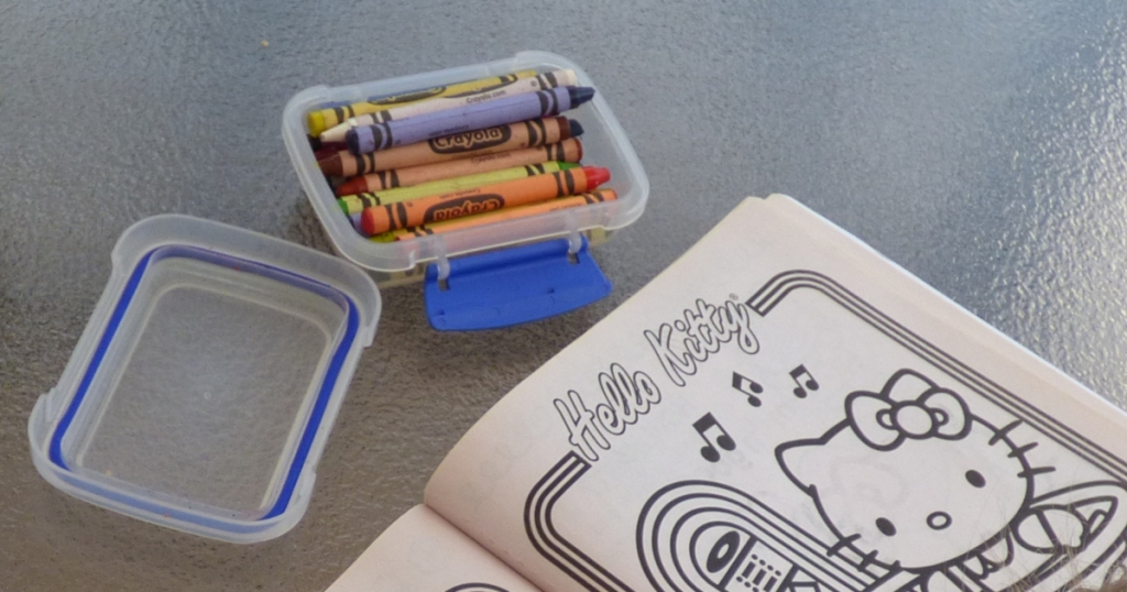 Crayola Crayons in a Sistema snack box