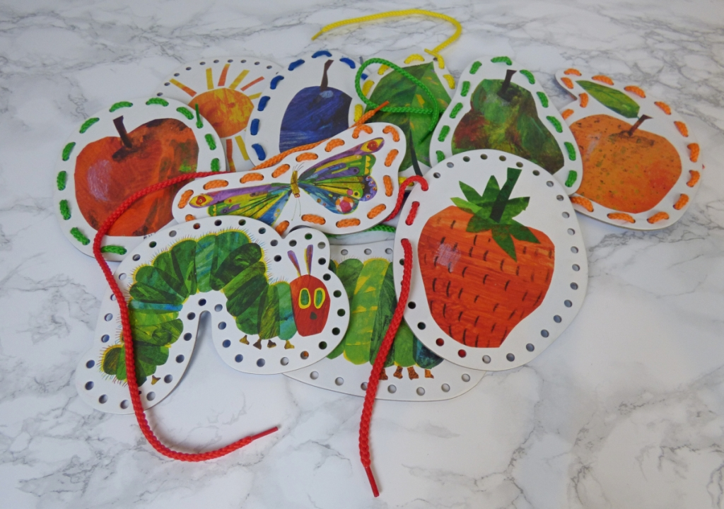 Eric Carle Very Hungry Caterpillar lacing cards