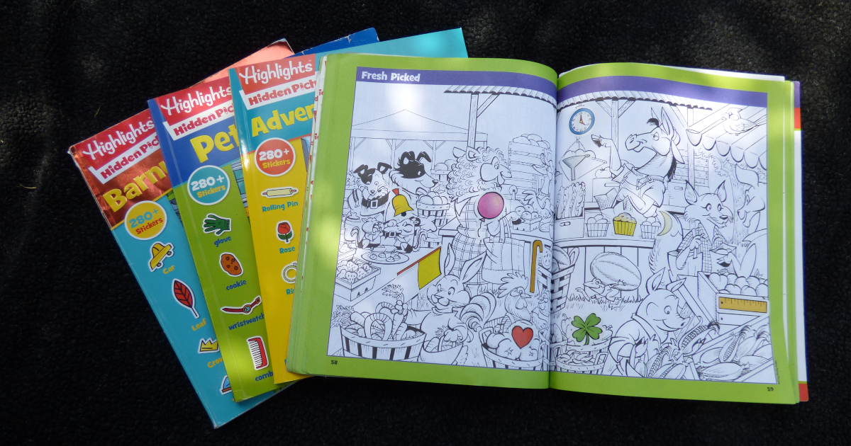 Highlights hidden pictures sticker activity books