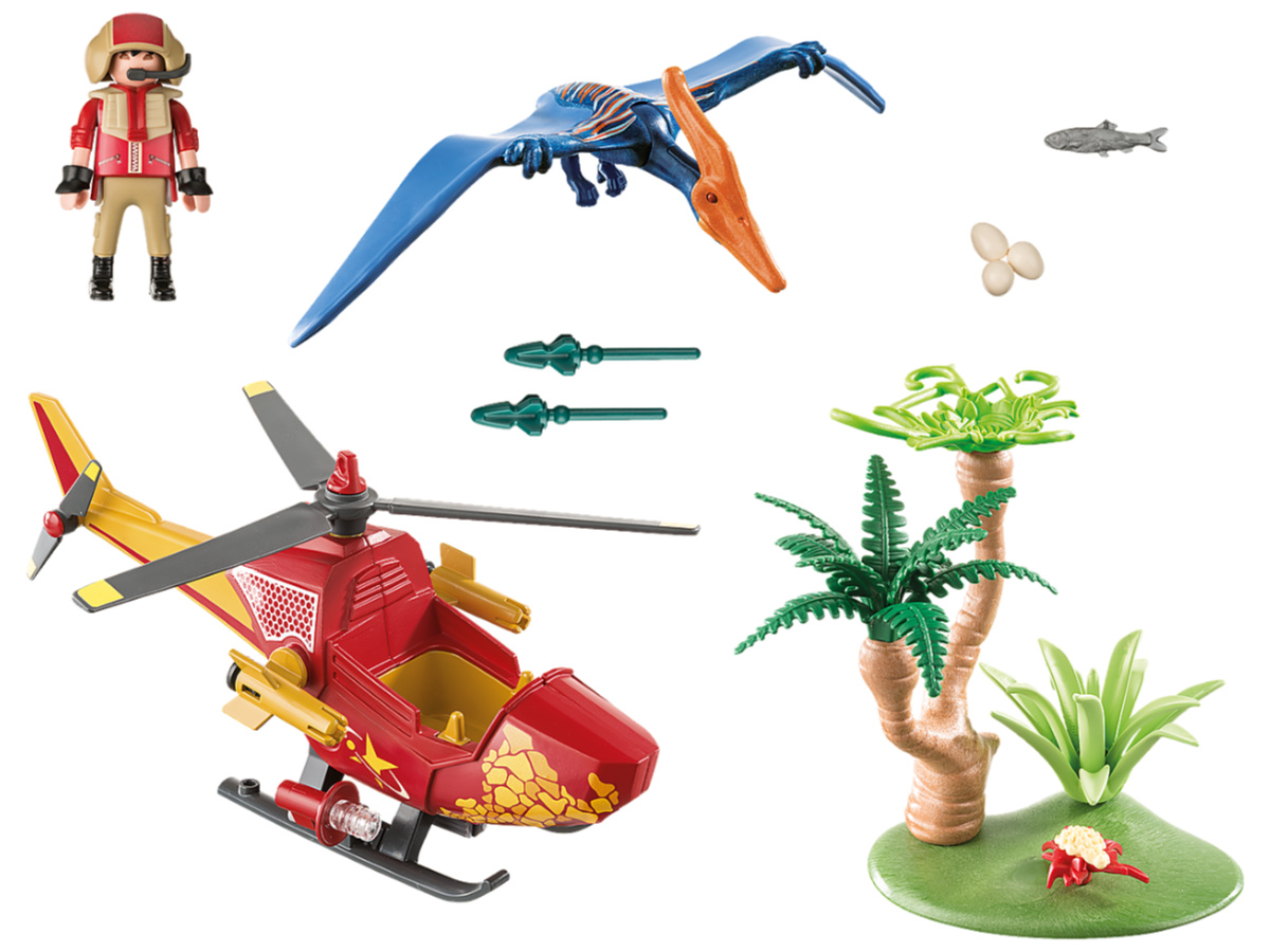 PLAYMOBIL Adventure Copter with Pterodactyl Building Set