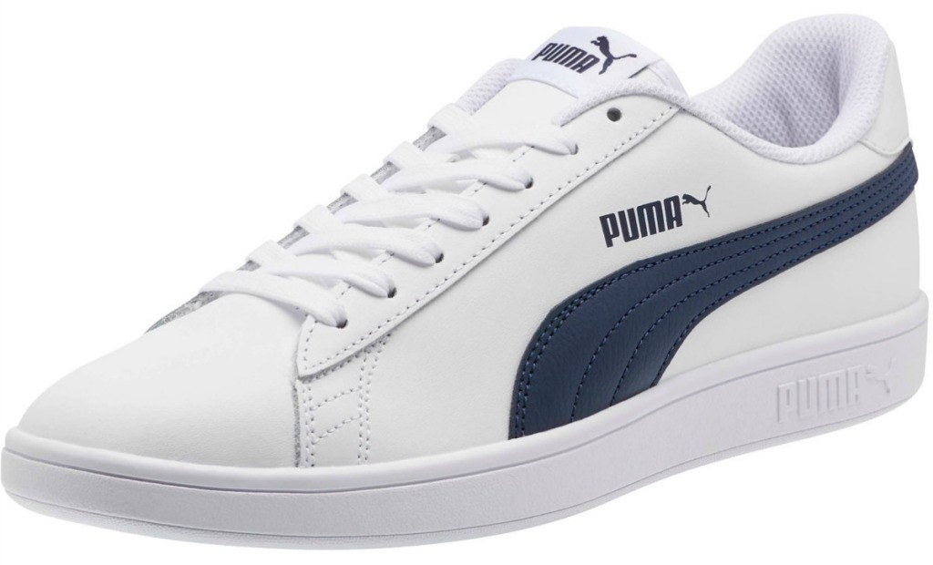 blue and white puma shoes