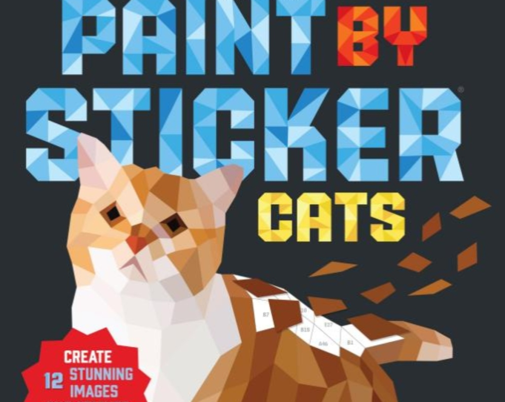 Paint by Sticker Cats Book