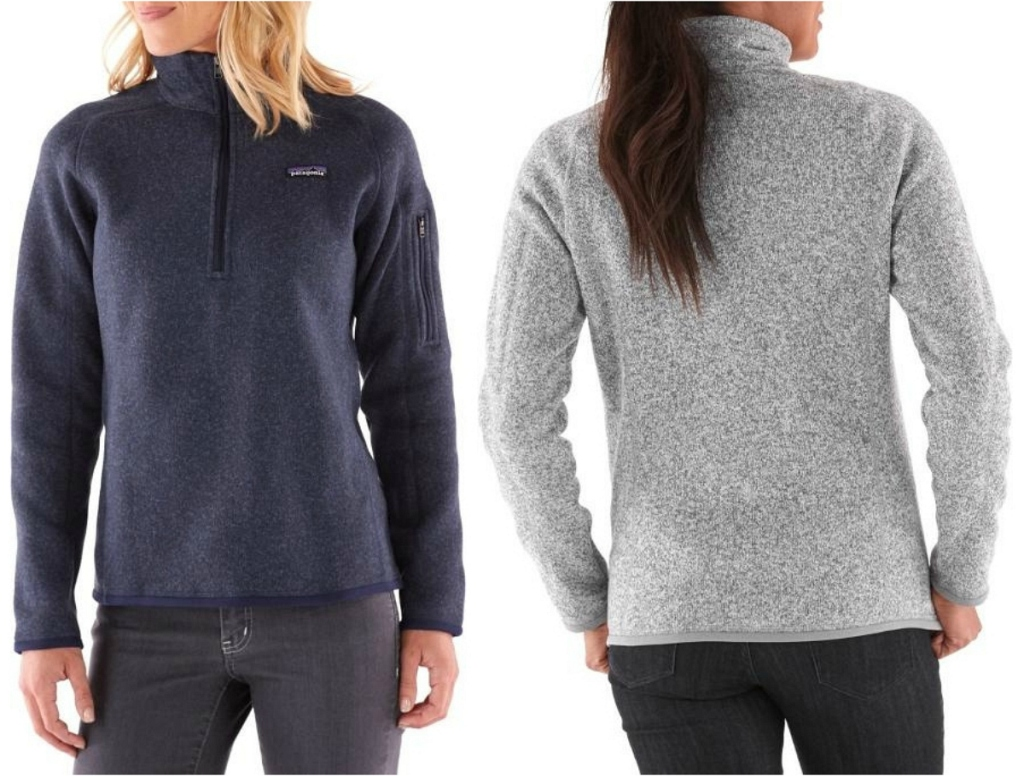 women wearing Patagonia Women's Better Sweater Quarter-Zip Pullover