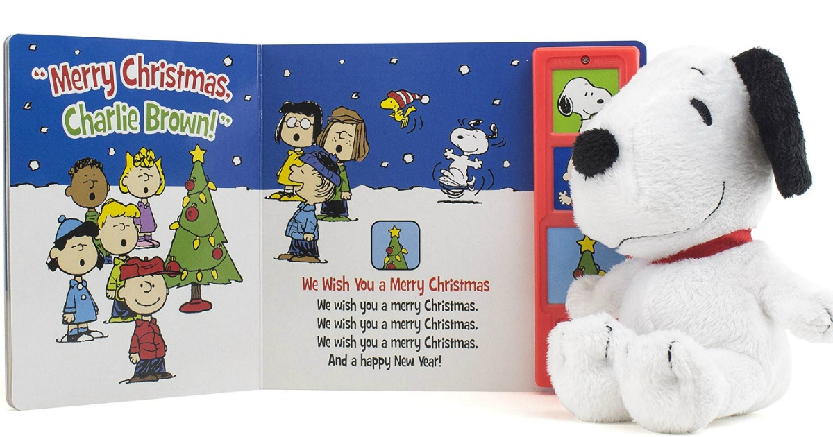 PEANUTS Gift Set MERRY CHRISTMAS CHARLIE BROWN SNOOPY AND PLAY A SOUND BOOK.