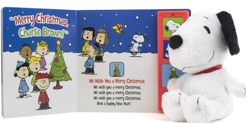 Snoopy or Rudolph The Red-Nosed Reindeer Plush Toy + Interactive Book Gift Sets ONLY $3.74 (Regularly $15+)