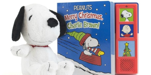 Peanuts Merry Christmas Charlie Brown Gift Set Just $3.74 (Regularly $18) | Snoopy Plush + Musical Book