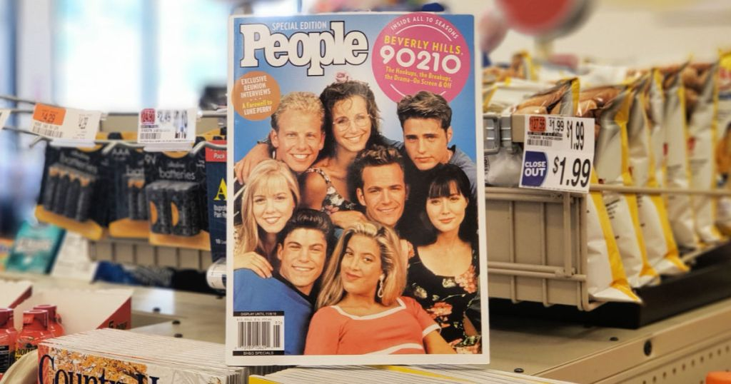 People Magazine in store with 90210 cast on the cover
