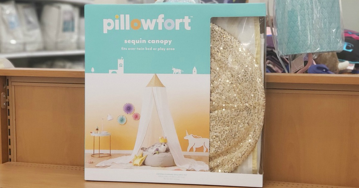 Pillowfort Sequin Bed Canopy in-store