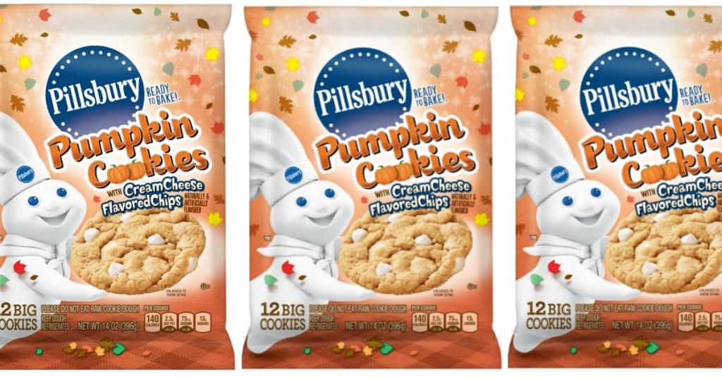 Pillsbury Pumpkin Cookies Feature Cream Cheese Flavored Chips