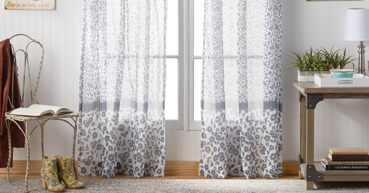 The Pioneer Woman Curtain Panels as Low as $3.53 at Walmart.com