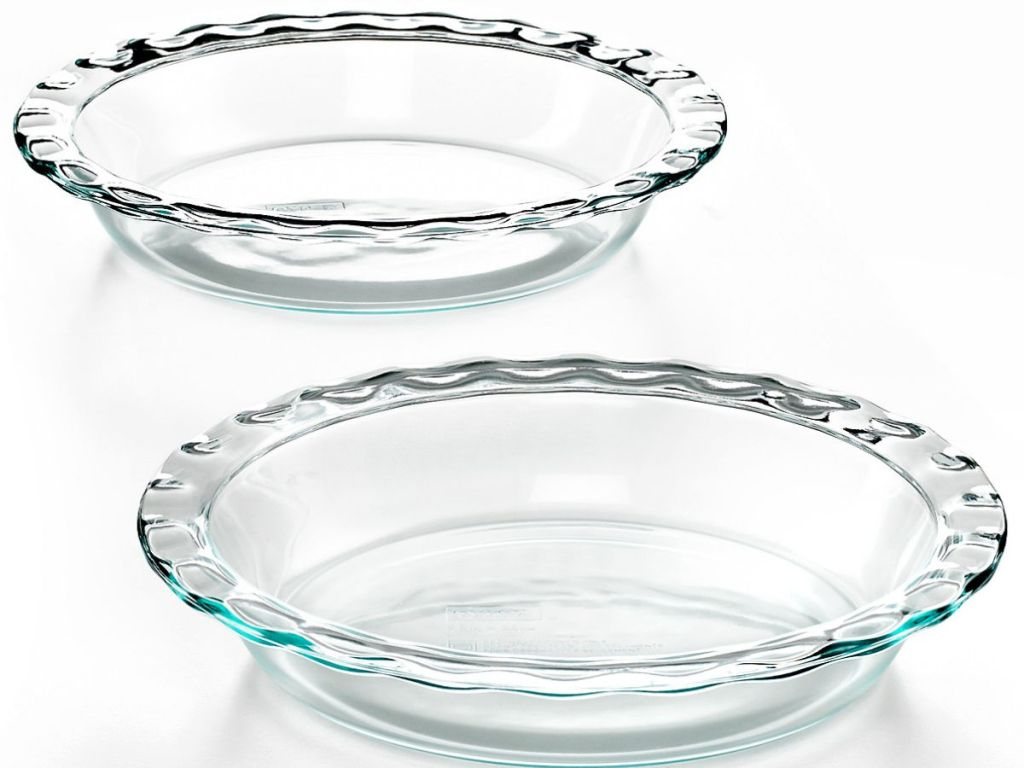set of two pyrex 9 inch pie dishes