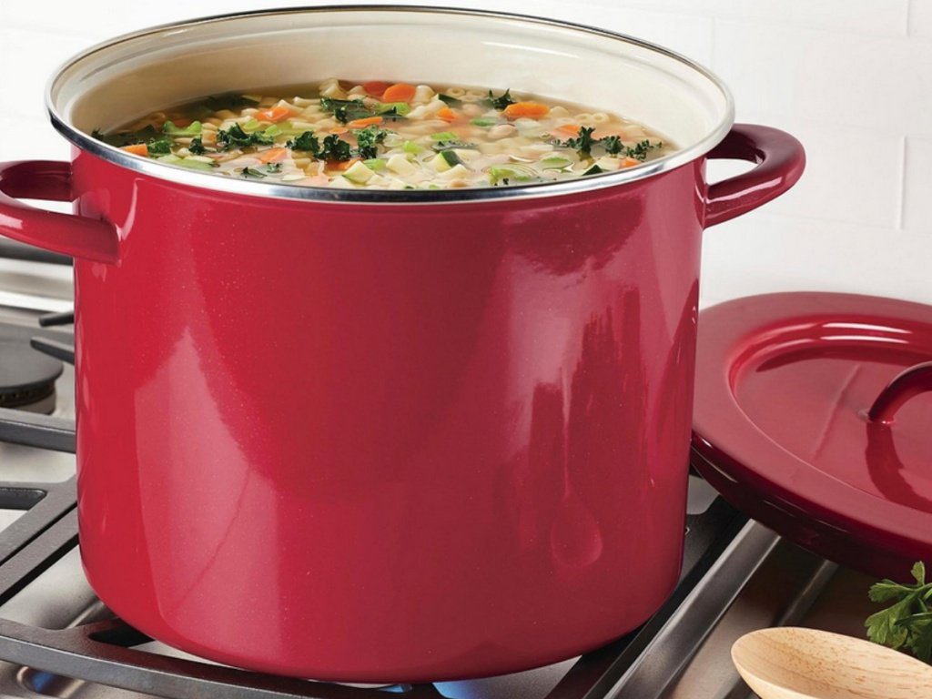 Rachael Ray Create Delicious Enamel on Steel 12-Qt Stockpot