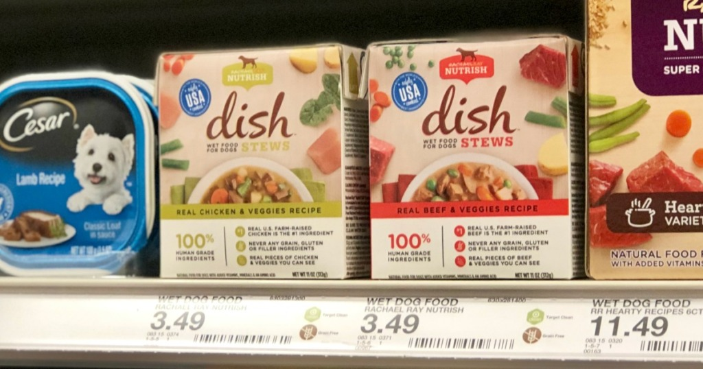 Rachael Ray Nutrish Dish Stews on Target Shelf