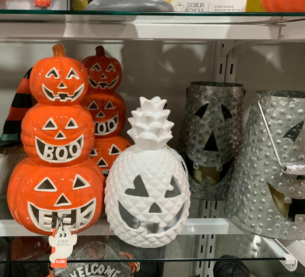 ceramin pumpkin decor in store
