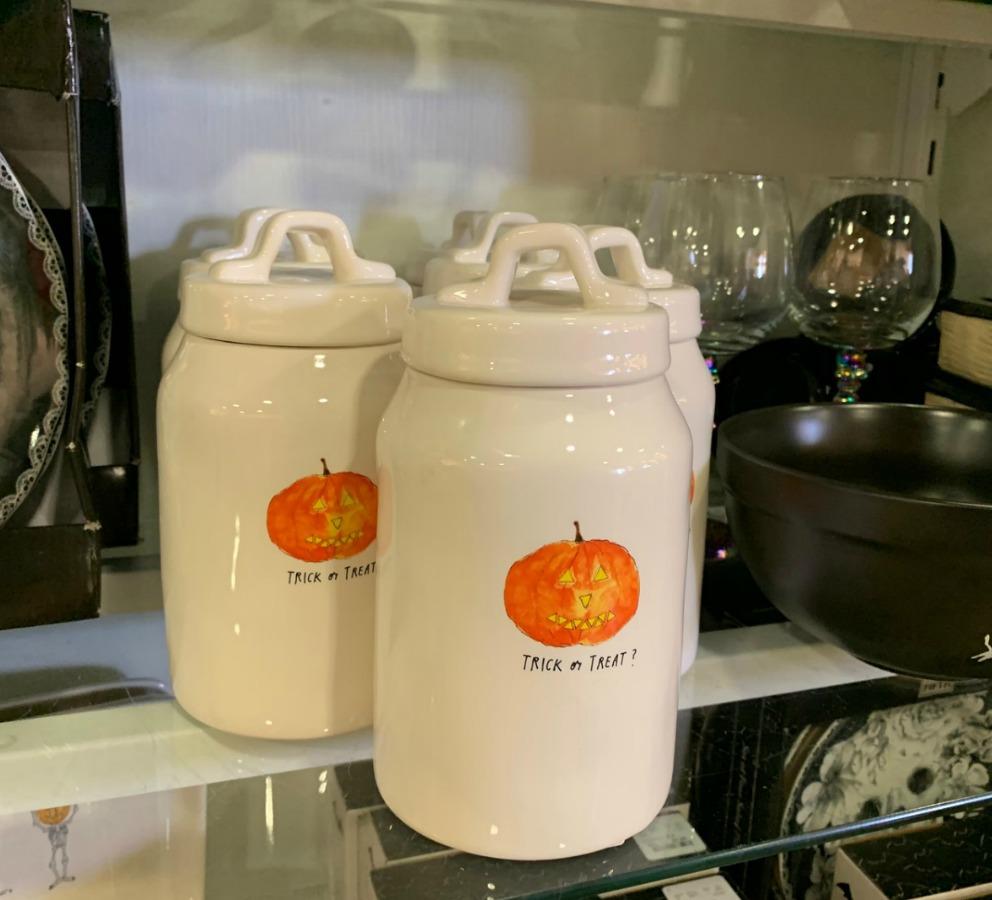 ceramic pumpkin jars