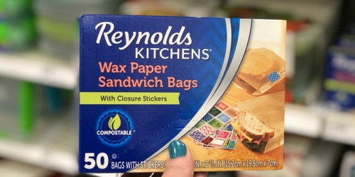 Reynolds Wax Paper Sandwich Bags 50-Count Just $2.59 Shipped on Amazon | Includes Fun Closure Stickers