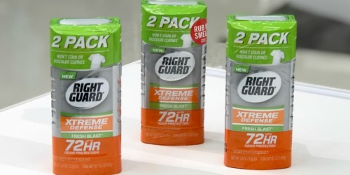 New $3/2 Right Guard Deodorant Coupon = Only 81¢ Each After Cash Back at Target