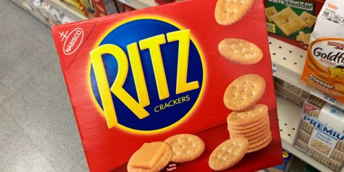 RITZ Crackers Family-Size 3-Pack Just $6.64 Shipped on Amazon | Only $2.21 Per Box