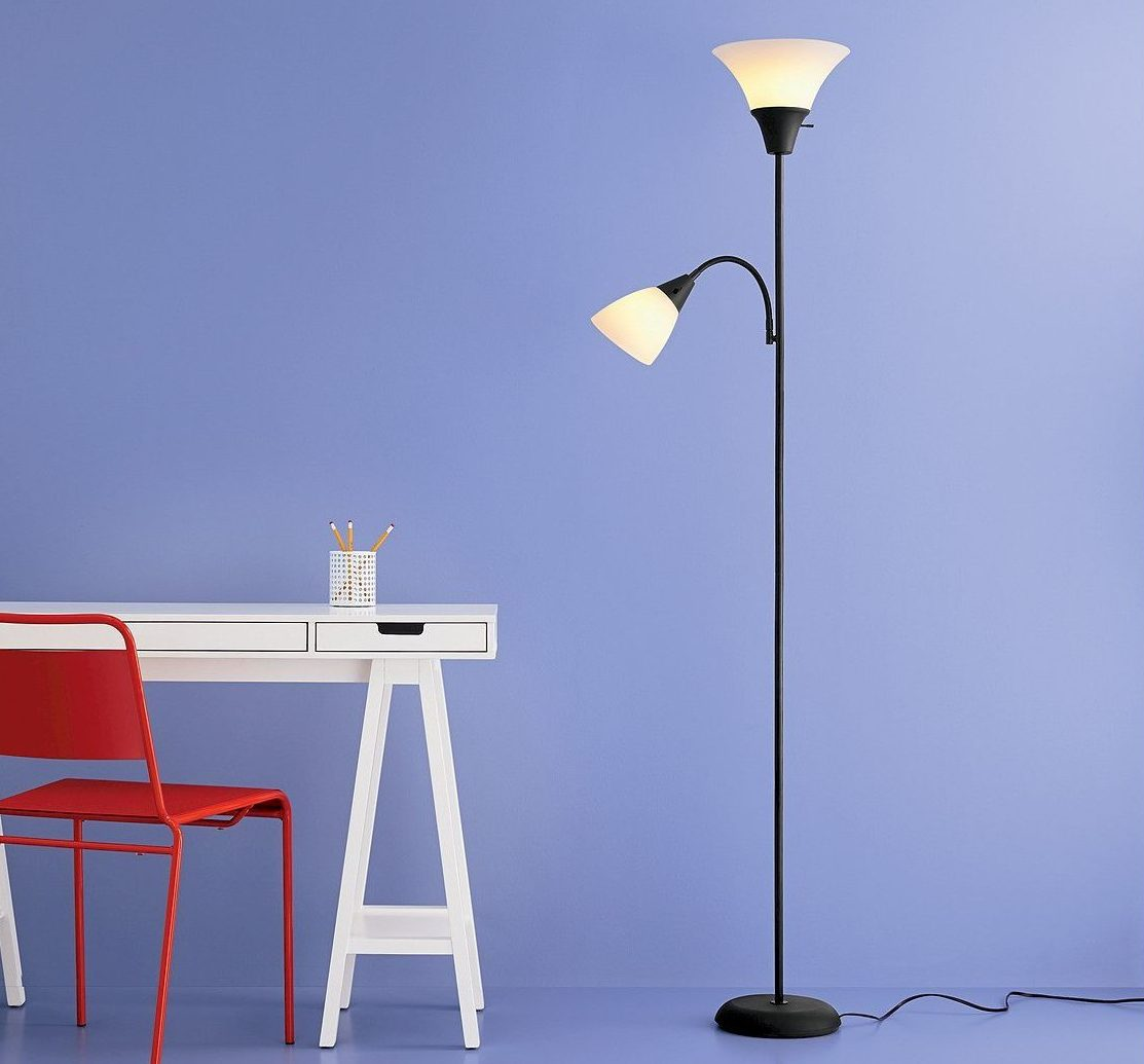 tall lamp by desk