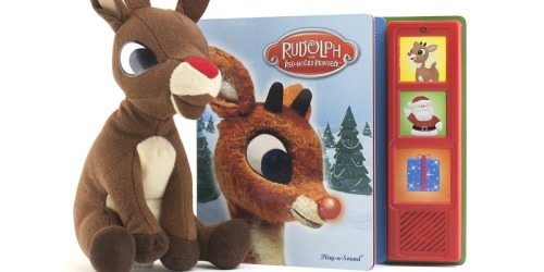 Rudolph the Reindeer Gift Set Only $3.74 (Regularly $15) | Plush Toy + Musical Book