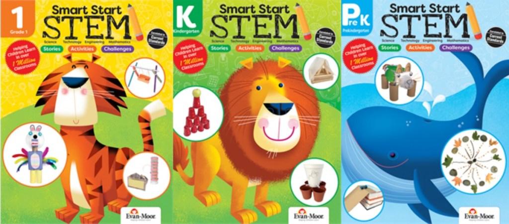 Three STEM activity books from Evan Moor