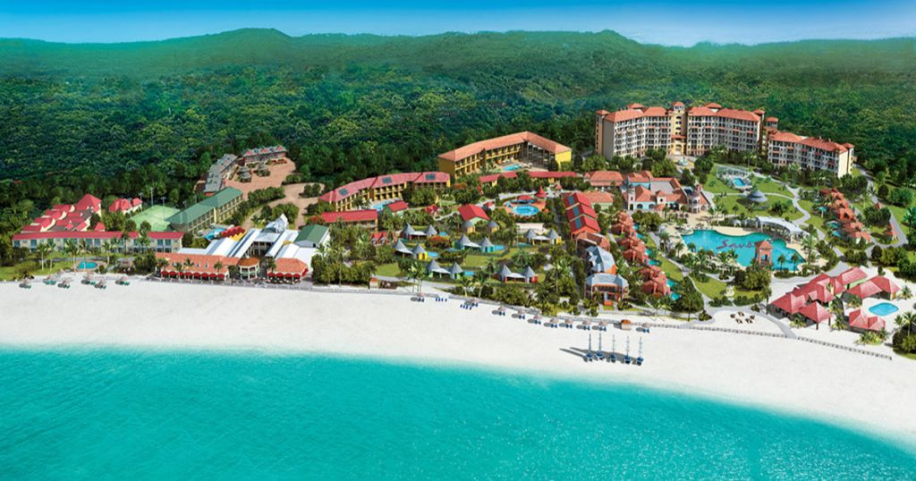 aerial view of sandals grand antigua