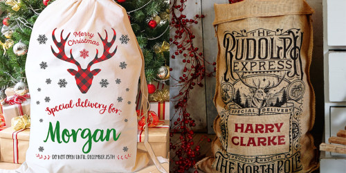 Up to 70% Off Custom Stocking & Santa Sacks at Zulily + Free Shipping Deals