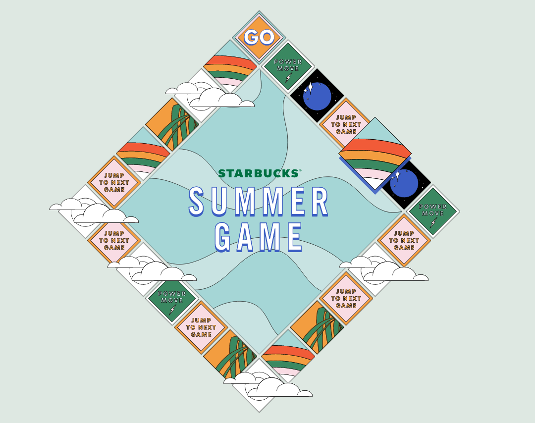 Starbucks Summer Game Gameboard
