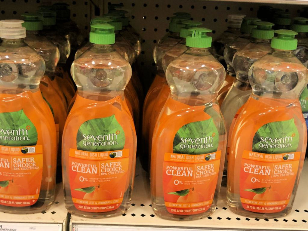 Seventh Generation Dish Soap on shelf