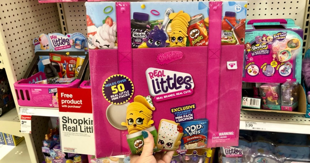 FREE Collectors Case Shopkins in hand in store