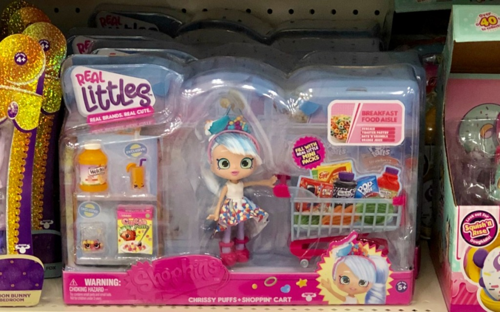 Shopkins brand Shoppie Doll with shopping cart