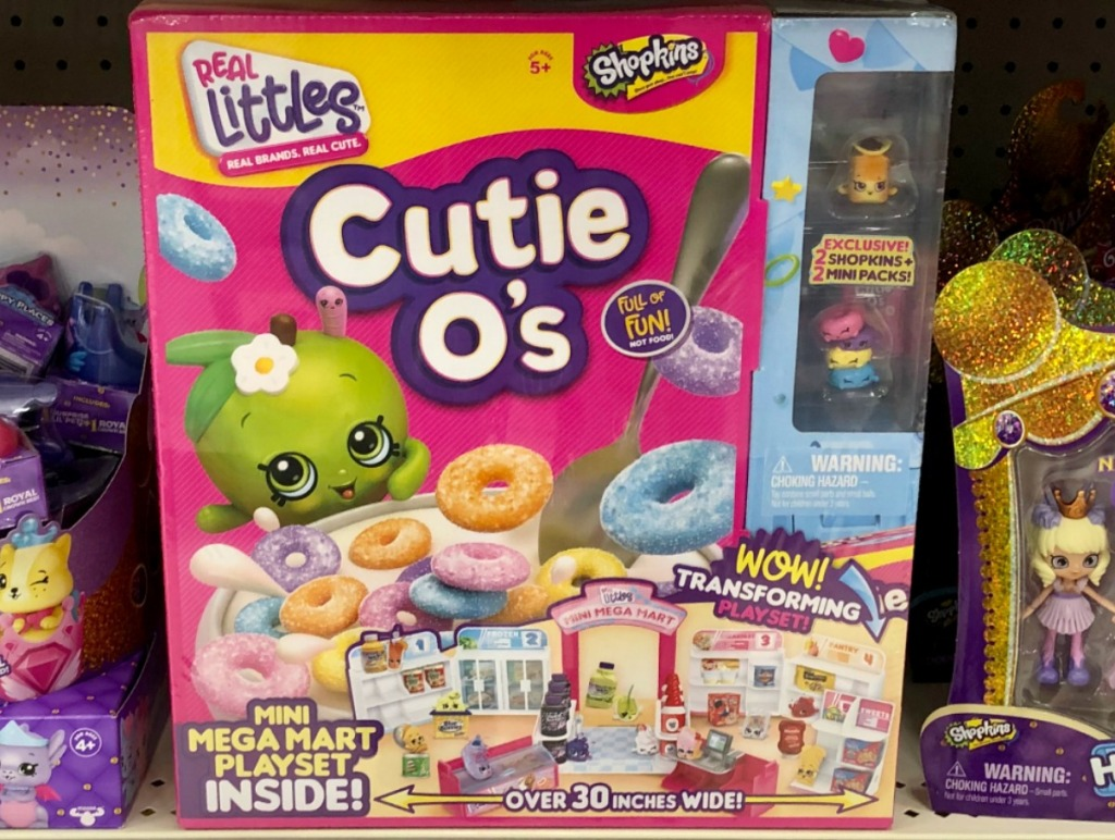 Shopkins brand Mini Mart Playset in package at store