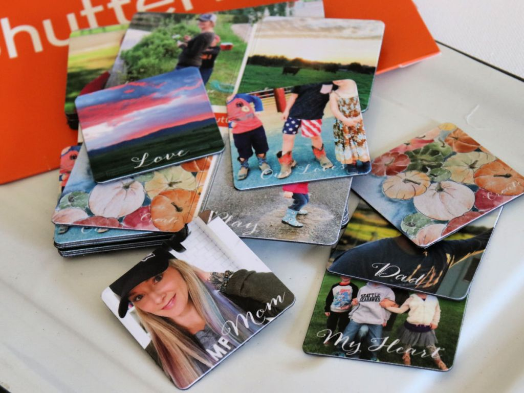 multiple shutterfly Magnets on counter