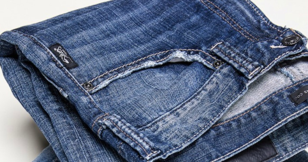 pair of folded up Silver Jeans