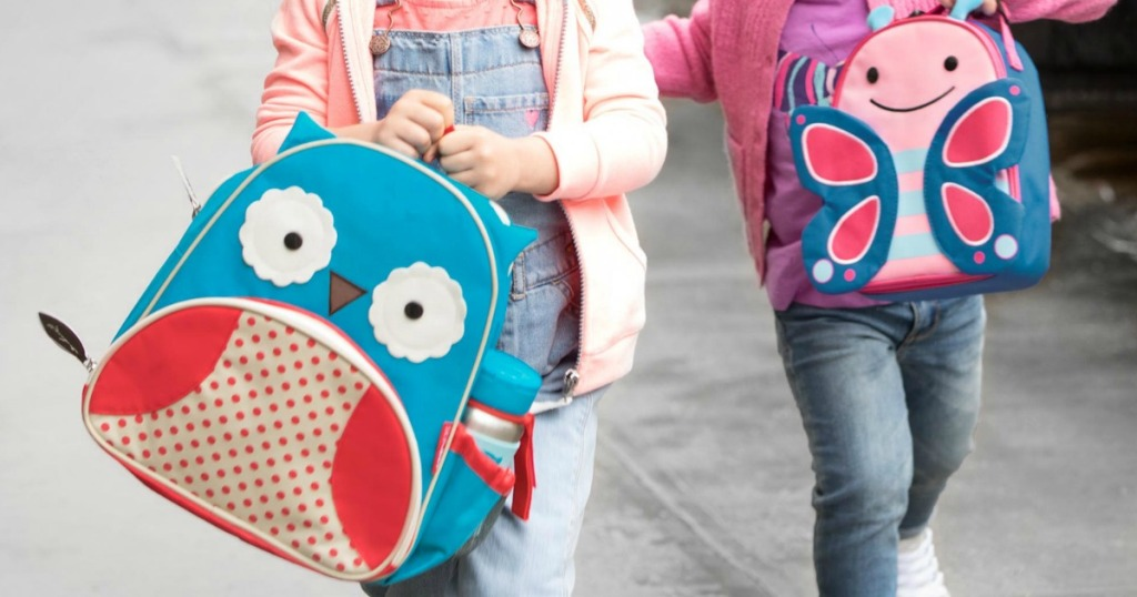 Skip Hop brand backpacks in Owl and Butterfly