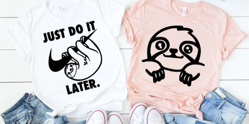 Sloth T-Shirts as Low as $17.98 Each Shipped at Jane.com