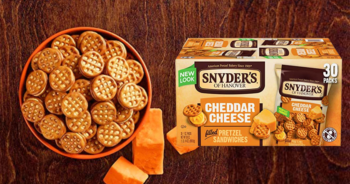 Snyder's of Hanover Filled Pretzel Sandwiches 30-Count Only $6.54 Shipped at Amazon