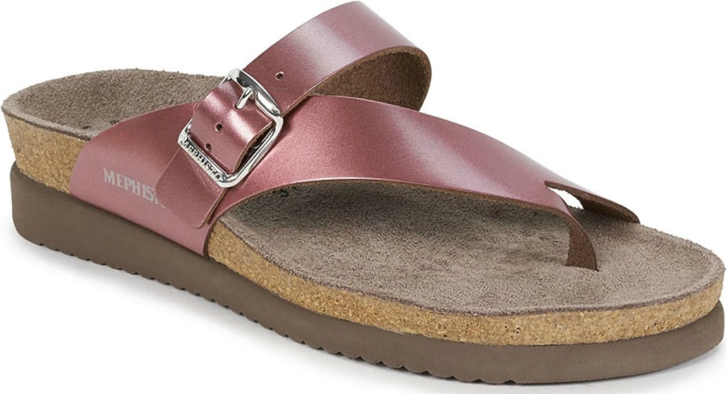 Leather sandals from Mephisto in soft pink