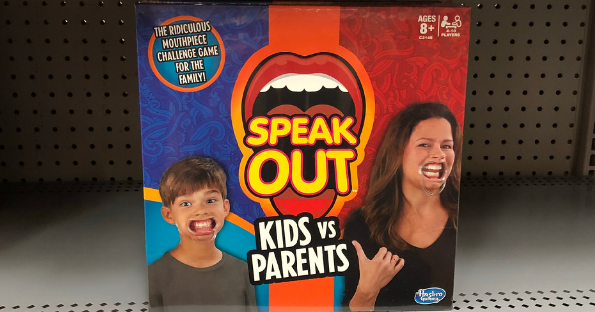 speak out game on shelf at store