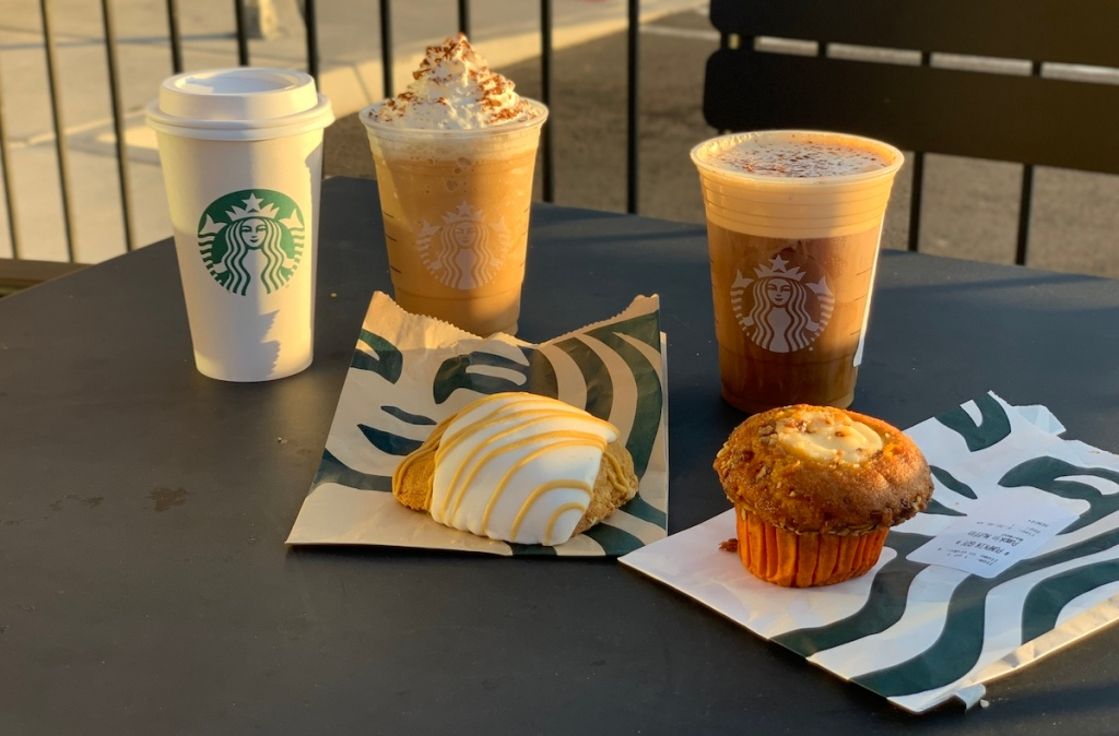 Starbucks fall drinks and foods