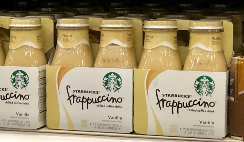 Vanilla flavored Starbucks chilled beverage